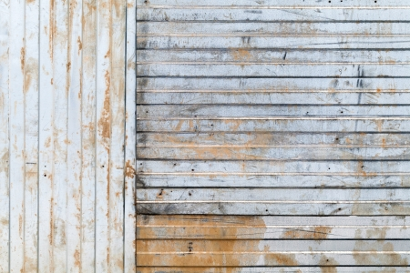 Old rusted corrugated galvanized metal wall background texture photo