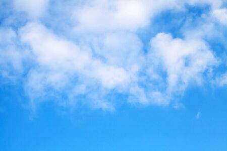 sky and clouds: Cloudy blue sky background texture