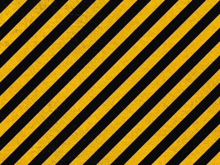 Seamless background pattern with yellow and black diagonal lines on concrete wall photo