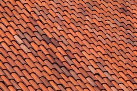 Oude dak tegel achtergrond typische mediterrane dakpannen in