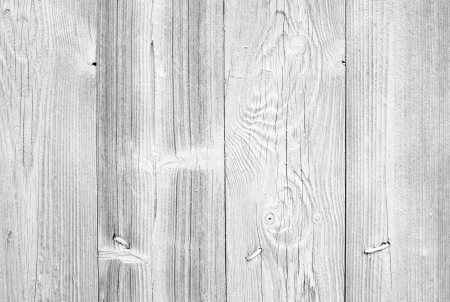 wood paneling: Old white wall background texture with nails and natural wooden pattern