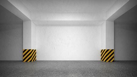 underground passage: Abstract empty underground parking interior