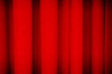 Red theatrical curtain background texture photo