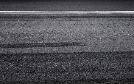 emergency braking: Emergency braking tracks on the asphalt road