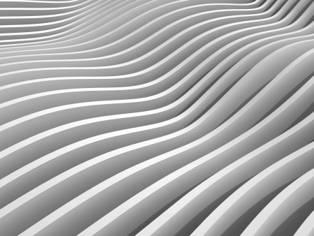 undulation: Abstract monochrome 3d wave background Stock Photo