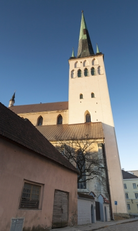 Church St  Olaf in the morning light  Old Town of Tallinn, Estonia photo