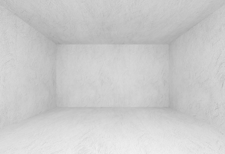 celling: Abstract background  White interior of empty room with concrete walls without finishing Stock Photo