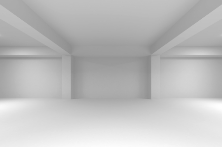 Abstract white empty interior background with soft light