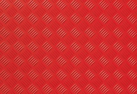 diamondplate: Red metal diamond plate photo background texture Stock Photo