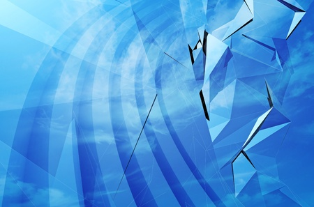 Abstract blue 3d background texture photo