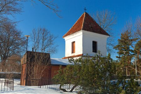 Pirita Convent entrance tower. Tallinn, Estonia photo