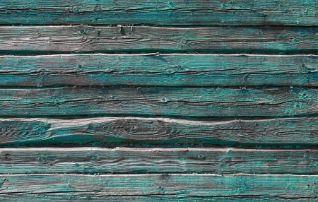 Old rural green wooden wall background texture photo
