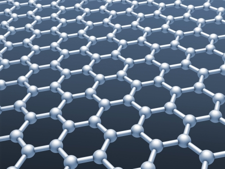 conductivity: Graphene layer structure model  Monochrome 3d render illustration