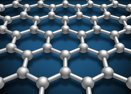 conductivity: Graphene layer structure schematic model  3d render illustration