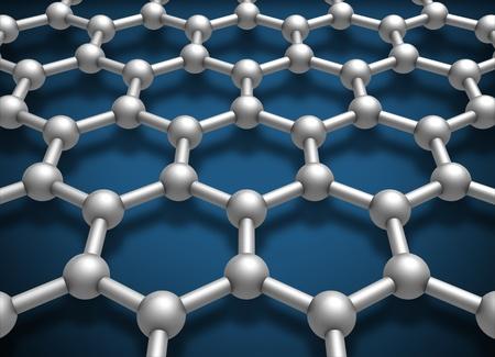 conductivity: Graphene layer structure schematic model  3d render illustration