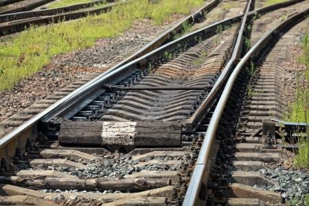 railway points: Railway track fragment