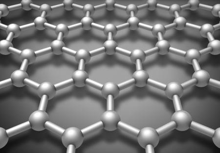 グラフェン層の分子構造模式図 3 d レンダリング図