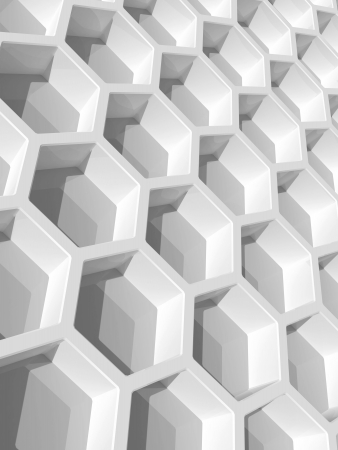 Abstract background with white honeycomb structure  3d render illustration illustration