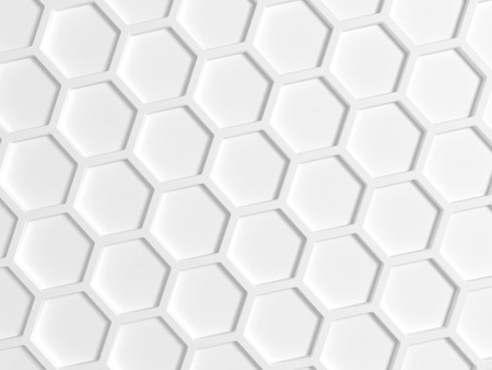 Top view of white honeycomb pattern on the wall photo