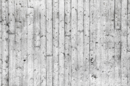 White concrete wall with wooden formwork pattern Stock Photo - 22085131