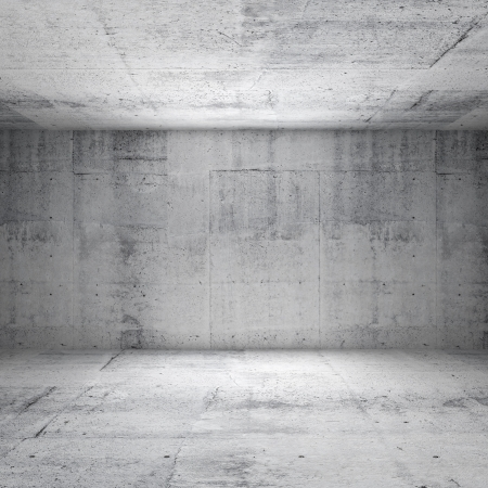 Abstract white interior of empty room with concrete walls