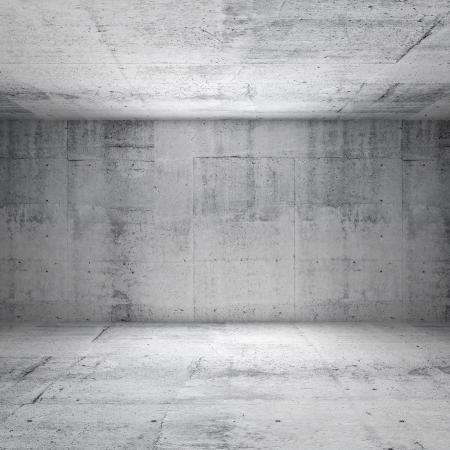 Abstracte witte interieur van lege ruimte met betonnen muren