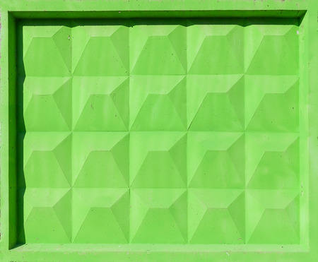 Abstract construction photo texture with bright green concrete fence block Stock Photo - 22297980