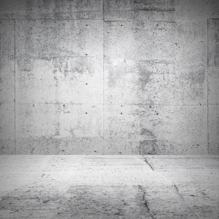 industrial background: Abstract white interior of empty room with concrete walls and floor