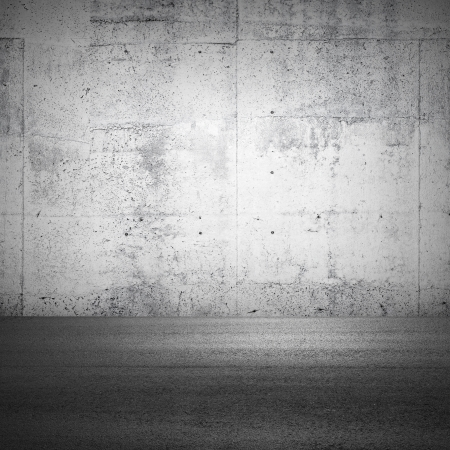 industrial park: Abstract parking interior fragment with concrete wall and asphalt ground