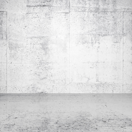 Abstract white empty interior with concrete wall and floor photo