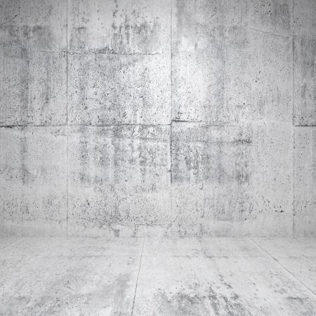 Résumé intérieur blanc vide avec des murs en béton et le plancher Banque d'images