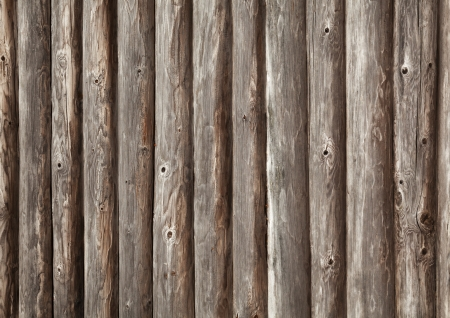 balk: Old brown wooden wall of rural house made of logs. Photo background texture Stock Photo
