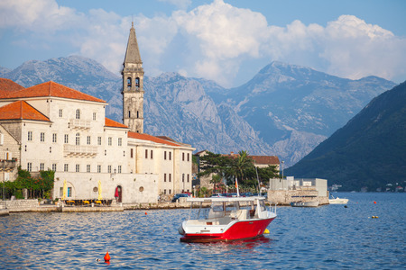 Landscape of old Perast, Kotor bay, Montenegro photo