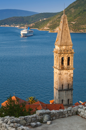 St. Nicholas Church in Perast town. Kotor Bay, Adriatic Sea, Montenegro photo