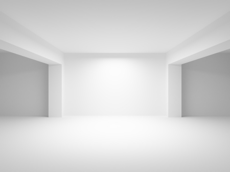 Abstract white empty interior perspective background. 3d illustration illustration