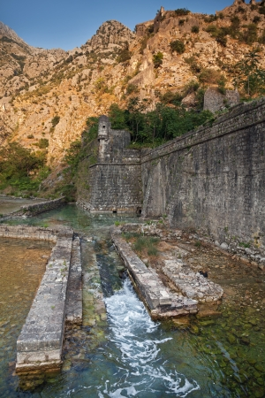 Old stone fortress of ancient town Kotor, Montenegro photo