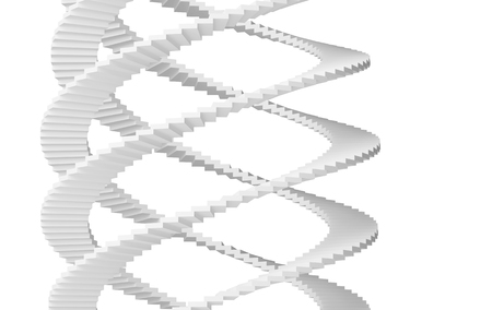 spiral stairs: Spiral stairs isolated on white . 3d illustration