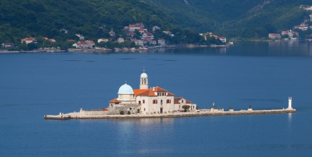 Our Lady of the Rocks - island with church in Bay of Kotor photo