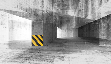 Abstract grunge concrete urban interior 3d illustration Stock Illustration - 25068679