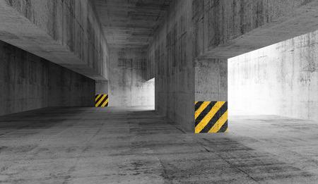 Abstract concrete urban parking interior. 3d illustration illustration