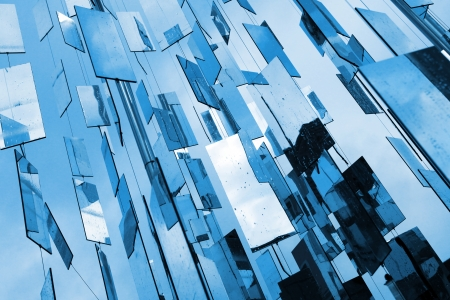 Abstract blue mirrors  Stock Photo