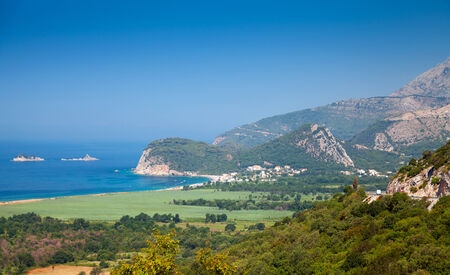 Adriatic Sea coastal landscape. Buljarica, Montenegro photo