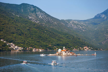 Our Lady of the Rocks. Island in Kotor Bay photo