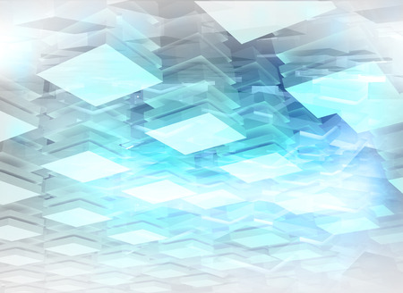 spacing: Abstract digital background with light blue illuminated boxes Stock Photo