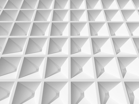 Abstract 3d architecture background  White square cellular surface photo