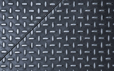 Dark gray steel sheets with diamond pattern relief Stock Photo - 26082191