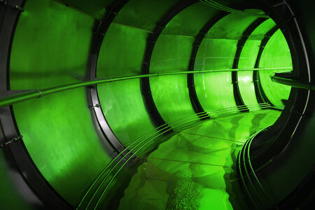 Abstract green underground industrial sewerage tunnel interior  Stock Photo - 26146942
