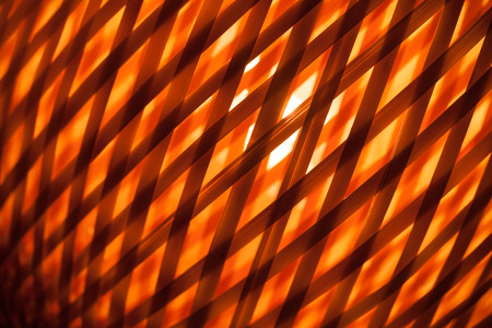 lampshade: Abstract red background with macro of wicker lampshade