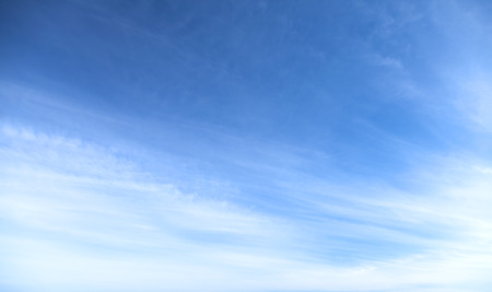 skyscape: Natural photo background texture of blue cloudy sky in sunny windy day Stock Photo