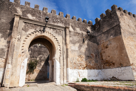 madina: Ancient stone fortress in Madina  Old part of Tangier, Morocco Stock Photo
